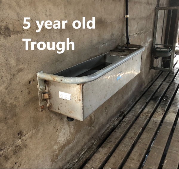 Fixed trough