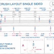 Crush layout single sided