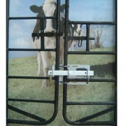 Interlocking gate latch