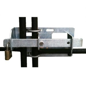 Inter-locking gate latch
