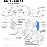Rubber stopper lac 55 drawing